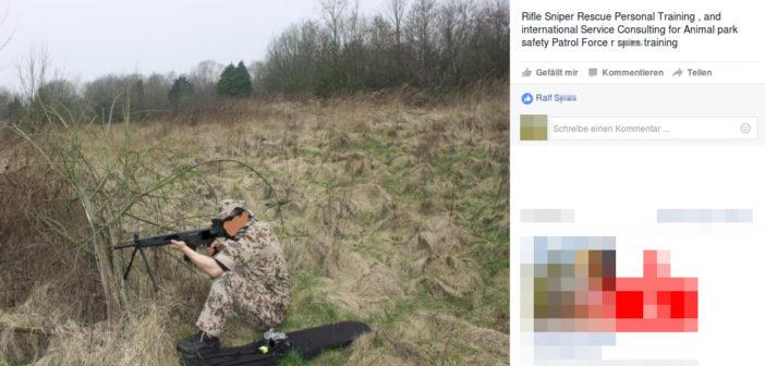 """Der heute verhaftete, mutmaßliche Rechtsterrorist Ralf S., präsentiert sich und sein """"Security-Unternehmen"""" auf Facebook."""